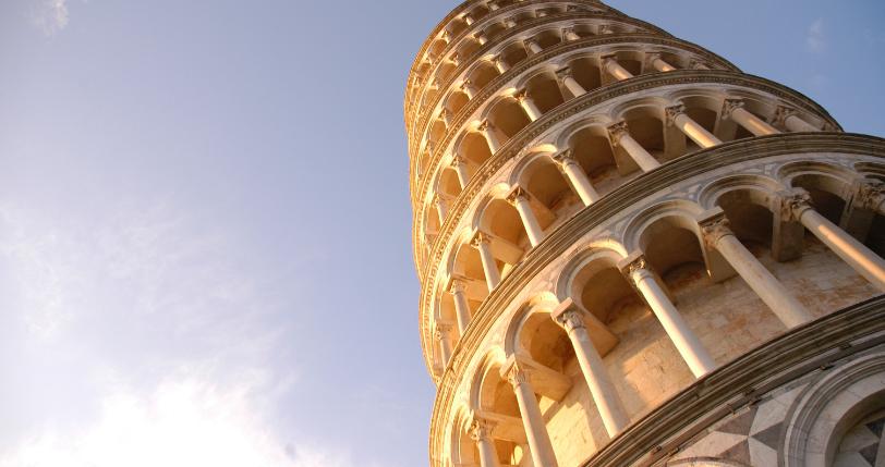 Toren van pisa Reis door de wijn