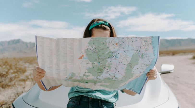 Landkaart Reis door de wijn
